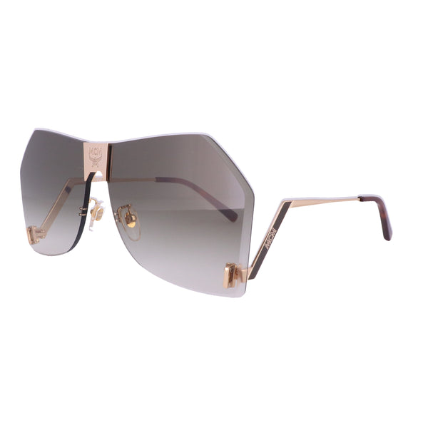 MCM Sunglasses MCM135S 748 Shiny Gold Shield Women 62x20x140