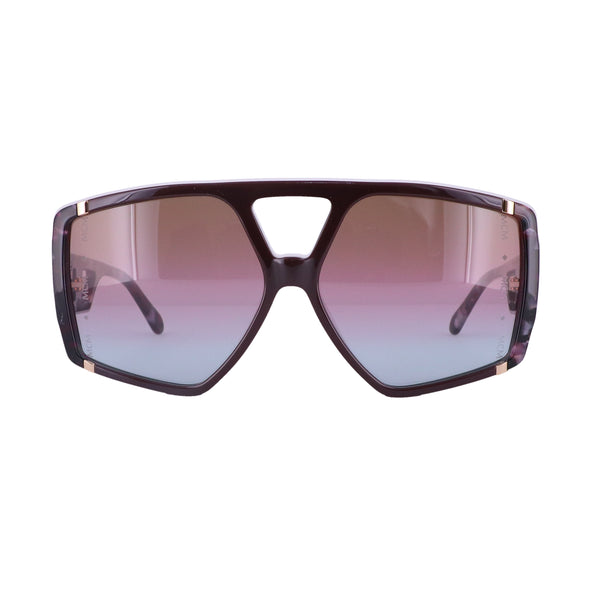 MCM Sunglasses MCM671S 613 Wine-Marble Wine Rectangle Unisex 61x14x140