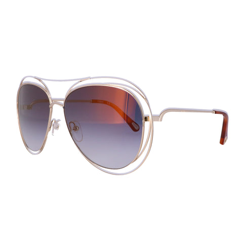 CHLOE Sunglasses CE134S 793 Gold-Havana Aviator Women 61x15x135