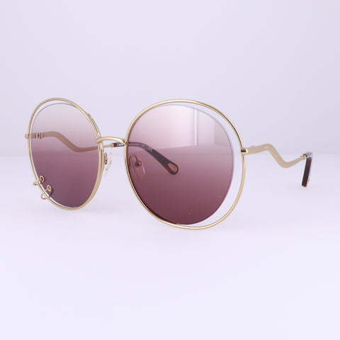 CHLOE Sunglasses CE153S 840 Gold Round Women 59x19x140