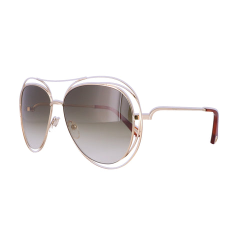 CHLOE Sunglasses CE134S 792 Gold-Havana Aviator Women 61x15x135