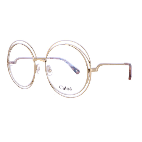 CHLOE Eyeglasses CE2152 717 Yellow Gold Round Women 54x18x140