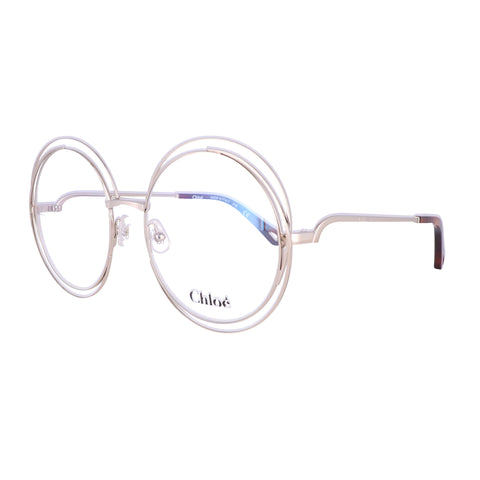 CHLOE Eyeglasses CE2152 906 Medium Gold Round Women 54x18x140