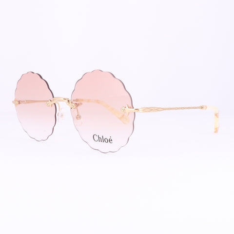 CHLOE Eyeglasses CE2147 717 Yellow Gold Round Women 55x16x140