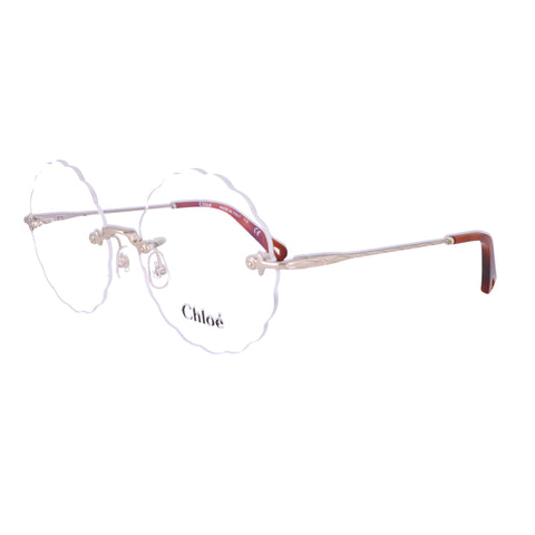 CHLOE Eyeglasses CE2147 906 Medium Gold Round Women 55x16x140
