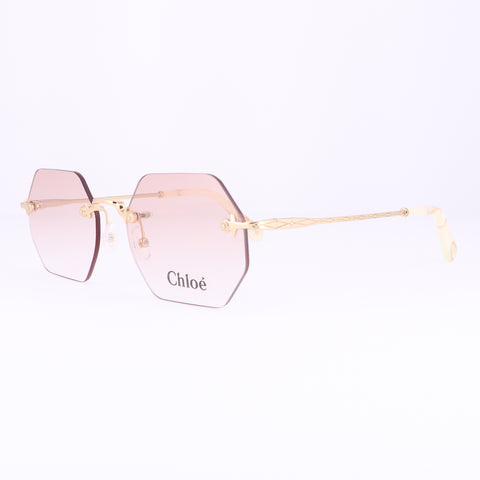CHLOE Eyeglasses CE2146 717 Yellow Gold Rectangle Women 50x17x140
