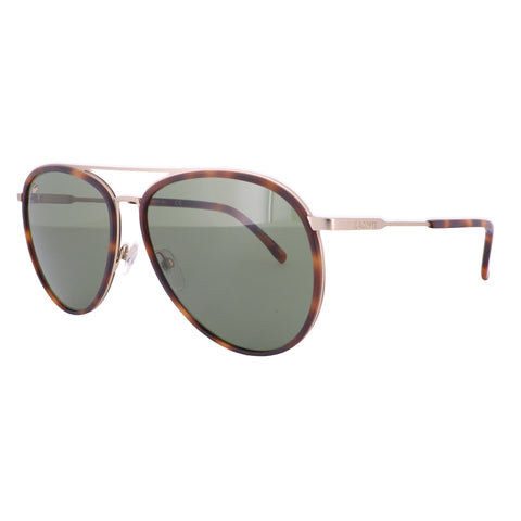 LACOSTE Sunglasses L215S 215 Matte Havana-Gold Aviator Men 60x15x145
