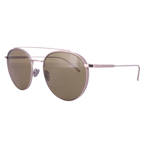LACOSTE Sunglasses L216S 033 Matte Light Ruthenium Oval Unisex Adults 52x19x140