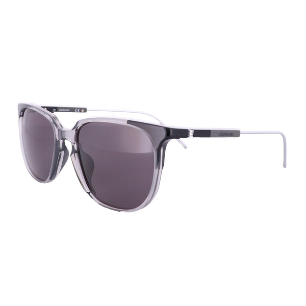 CALVIN KLEIN Sunglasses CK19700S 072 Crystal Smoke-Black Square Men 56x19x140