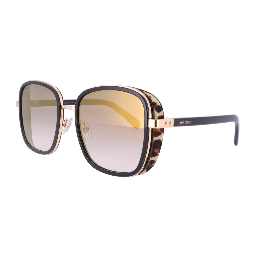 JIMMY CHOO Sunglasses ELVA/S 0FP3 BLACK GOLD LEOPARD Women 54x20x130