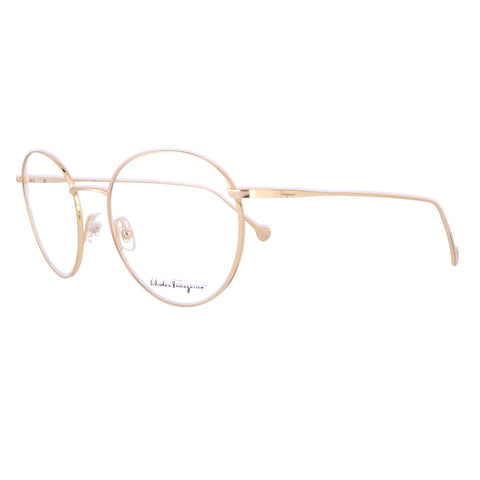 Salvatore Ferragamo Eyeglasses SF2178 756 Yellow Gold Round Women 51x18x140