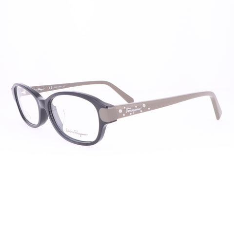 Salvatore Ferragamo Eyeglasses SF2795RA 013 Black-Grey Oval Women 53x15x140