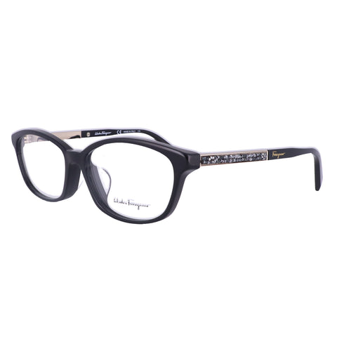 Salvatore Ferragamo Eyeglasses SF2808RA 001 Black Oval Women 54x15x140