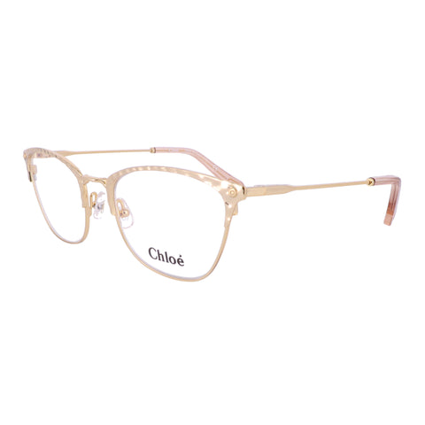 CHLOE Eyeglasses CE2153 717 Yellow Gold Cat Eye Women 52x19x140