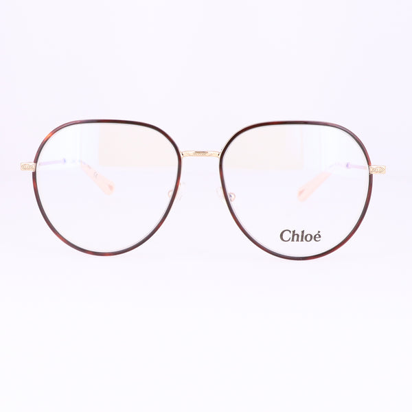 CHLOE Eyeglasses CE2163 882 Yellow Gold Light Havana Rectangle Women 56x15x140