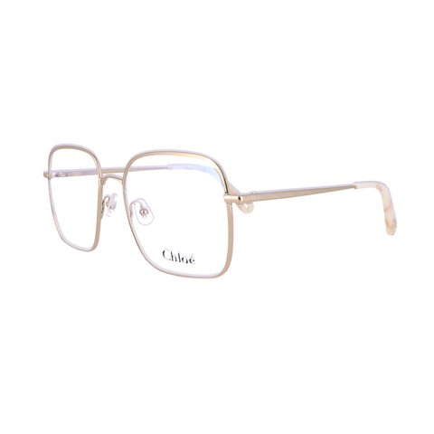 CHLOE Eyeglasses CE2160 717 Yellow Gold Rectangle Women 53x17x140