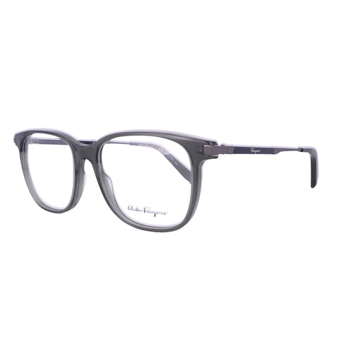 Salvatore Ferragamo Eyeglasses SF2803 057 Crystal Grey Rectangle Men 54x17x145