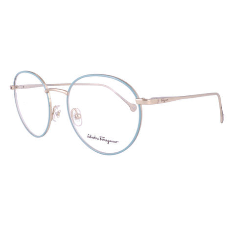 Salvatore Ferragamo Eyeglasses SF2178 717 Medium Gold Round Women 51x18x140