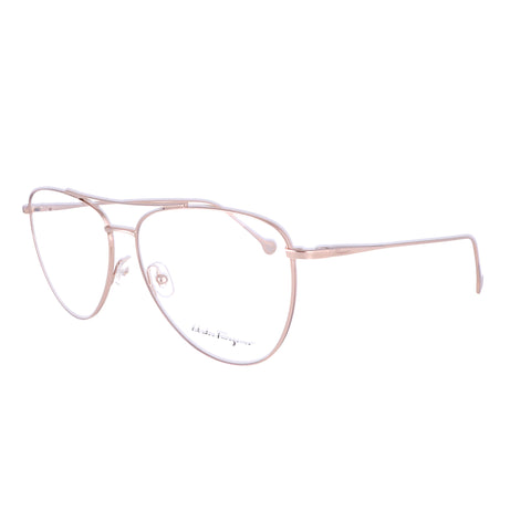 Salvatore Ferragamo Eyeglasses SF2177 688 Rose Gold Aviator Women 56x13x140