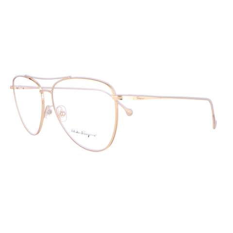 Salvatore Ferragamo Eyeglasses SF2177 756 Yellow Gold Aviator Women 56x13x140