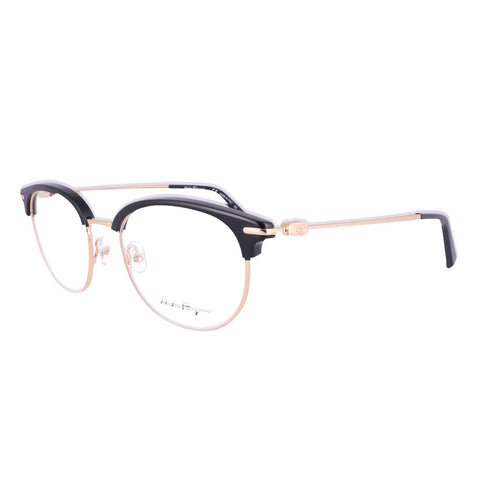 Salvatore Ferragamo Eyeglasses SF2164 017 Black-Gold P-3 Men 52x19x145
