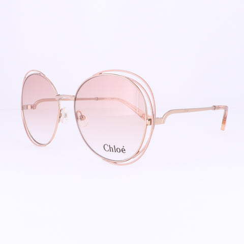 CHLOE Eyeglasses CE2138 739 Gold Rose Round Women 56x18x140