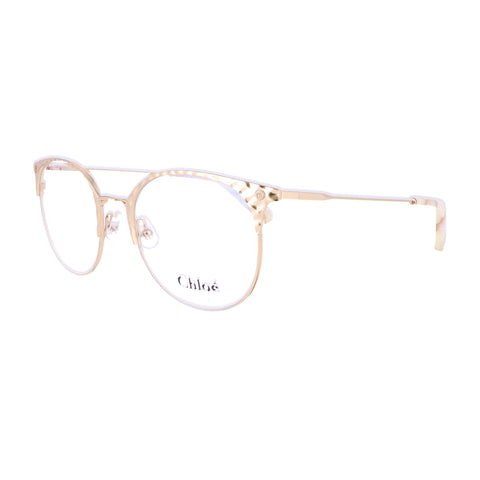 CHLOE Eyeglasses CE2141 717 Yellow Gold Round Women 51x19x140