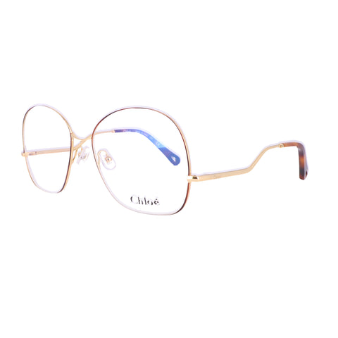 CHLOE Eyeglasses CE2157 757 Yellow Gold-Havana Rectangle Women 56x16x140