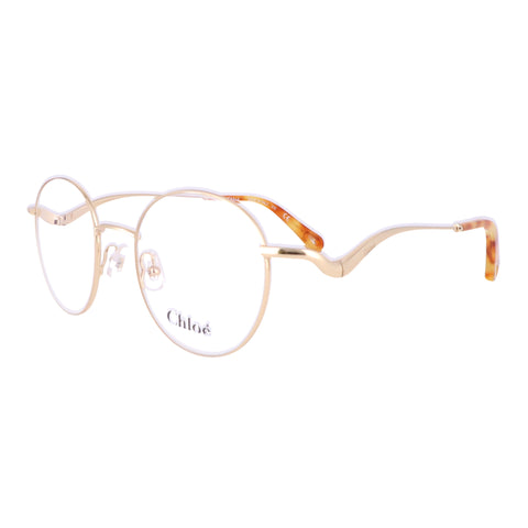 CHLOE Eyeglasses CE2155 717 Yellow Gold Round Women 47x19x140
