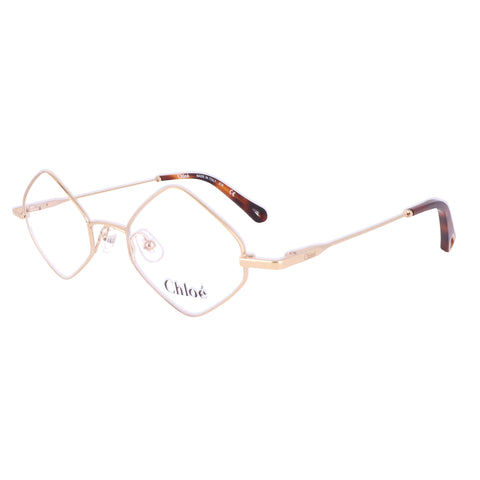 CHLOE Eyeglasses CE2158 717 Yellow Gold Rectangle Women 46x20x140
