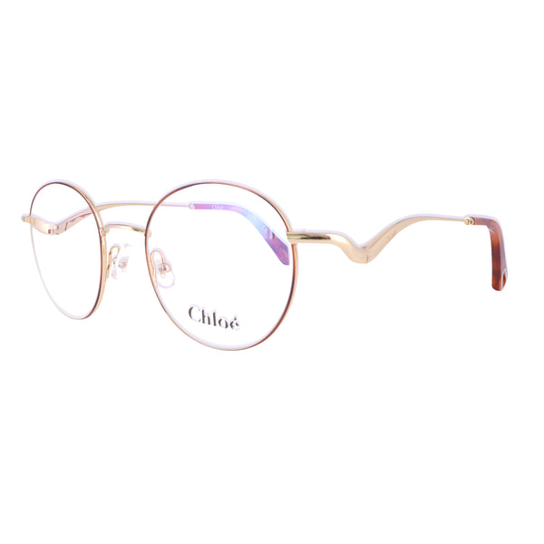 CHLOE Eyeglasses CE2155 757 Yellow Gold-Havana Round Women 47x19x140