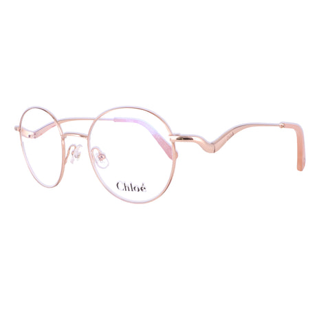 CHLOE Eyeglasses CE2155 780 Rose Gold Round Women 47x19x140