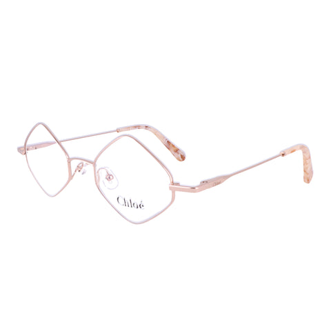CHLOE Eyeglasses CE2158 780 Rose Gold Rectangle Women 46x20x140