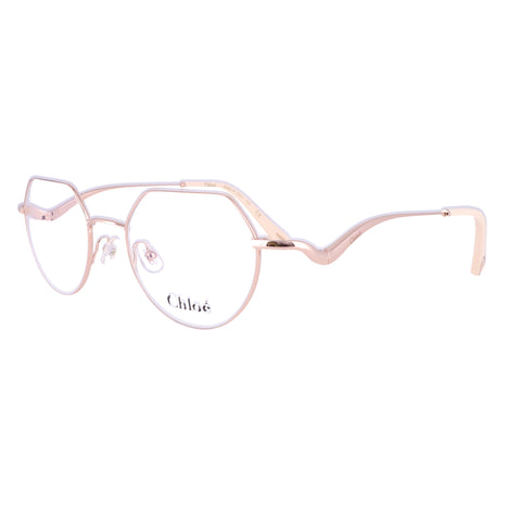 CHLOE Eyeglasses CE2156 780 Rose Gold Tea Cup Women 49x19x140