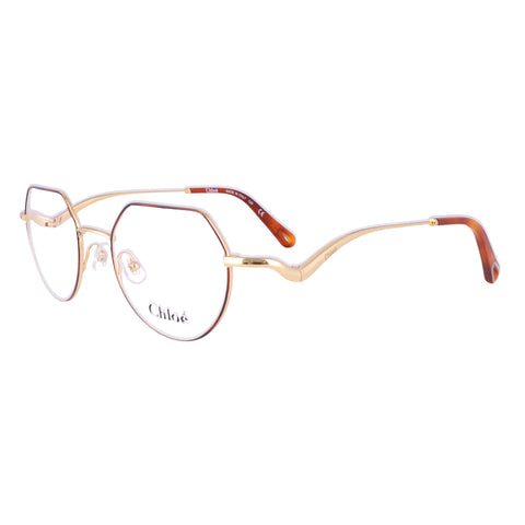 CHLOE Eyeglasses CE2156 757 Yellow Gold-Havana Tea Cup Women 49x19x140