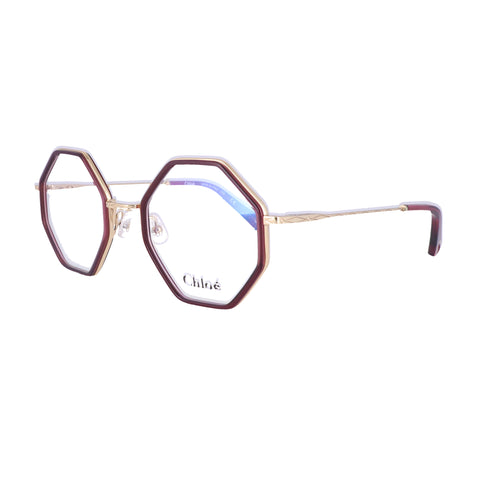 CHLOE Eyeglasses CE2142 602 Wine Square Women 50x22x140