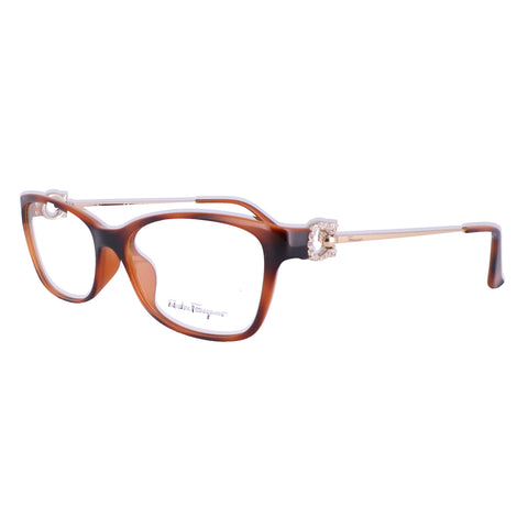 Salvatore Ferragamo Eyeglasses SF2799R 214 Havana Rectangle Women 54x15x130