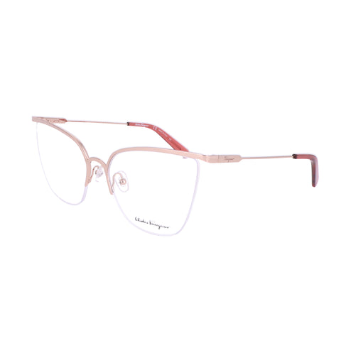 Salvatore Ferragamo Eyeglasses SF2197 716 Shiny Rose Gold Women 57x17x140