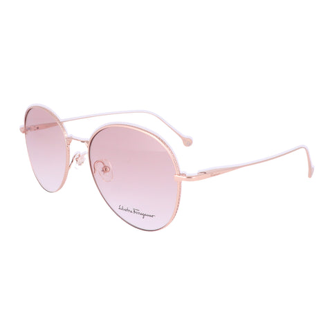 Salvatore Ferragamo Eyeglasses SF2189 688 Rose Gold Tea Cup Women 55x18x140