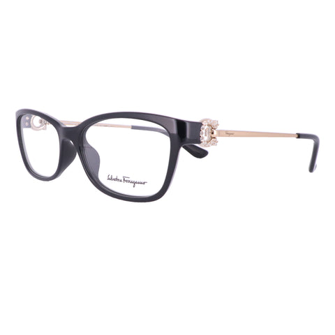 Salvatore Ferragamo Eyeglasses SF2799R 001 Black Rectangle Women 54x15x130
