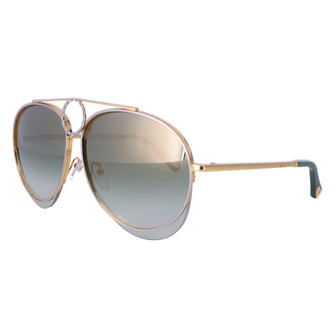 CHLOE Sunglasses CE144S 827 Gold-Silver Aviator Women 61x13x140