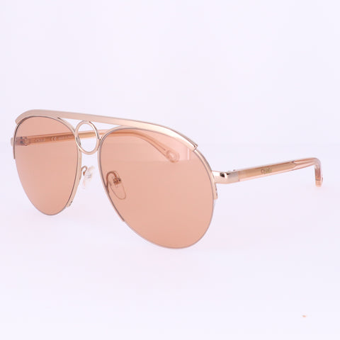 CHLOE Sunglasses CE152S 841 Rose Gold Aviator Women 59x14x140