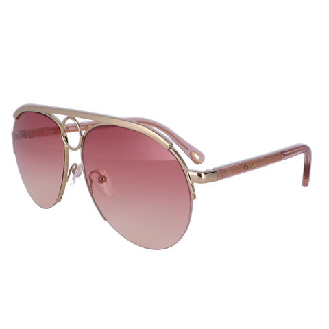 CHLOE Sunglasses CE152S 818 Gold Aviator Women 59x14x140