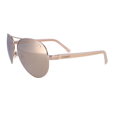 LACOSTE Sunglasses L163S 714 Light Gold Aviator Men 62x13x140