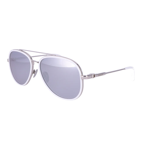 CALVIN KLEIN Sunglasses CK18103S 100 White Aviator Unisex Adults 57x15x140