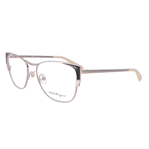 Salvatore Ferragamo Eyeglasses SF2163 721 Shiny Gold Ivory Women 53x17x140