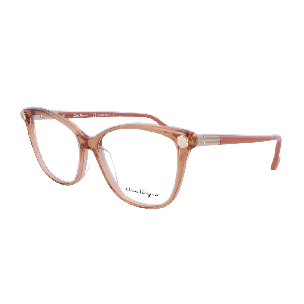 Salvatore Ferragamo Eyeglasses SF2838 210 Brown Rectangle Women 53x14x140