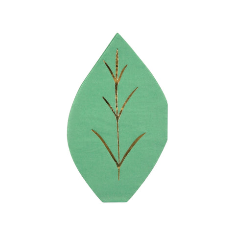 Green Leaf Die Cut Napkins