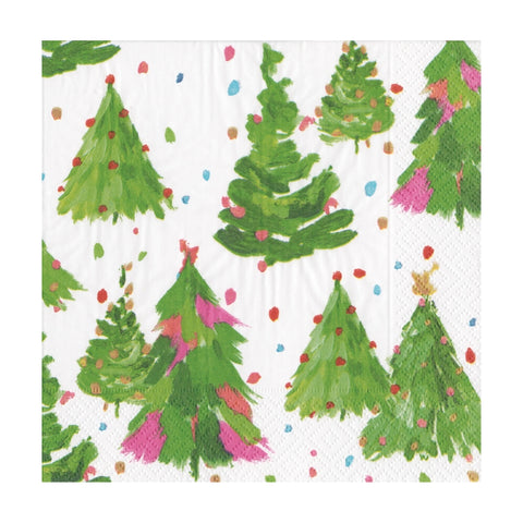 Brushstroke Trees Small Napkins