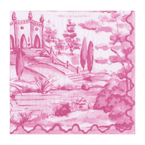 Pink Fairytale Toile Small Napkins